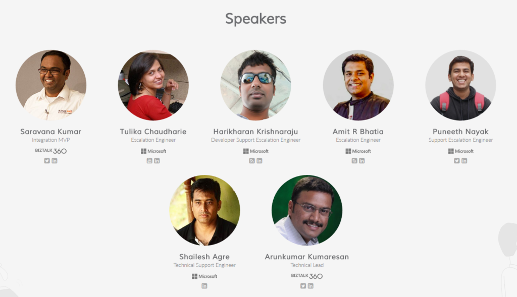 Integration Day Bangalore - Speakers List