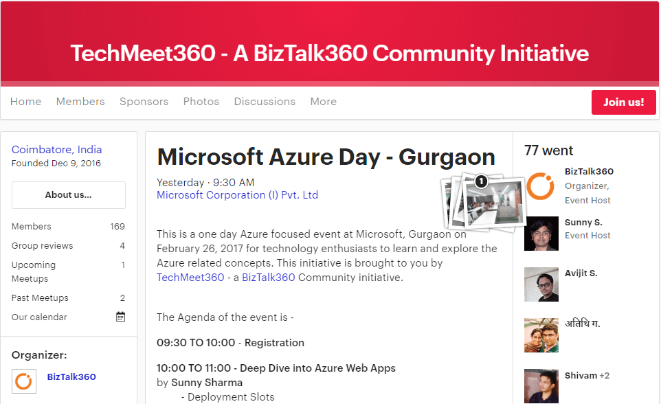 Microsoft Azure Day Registrations on Meetup