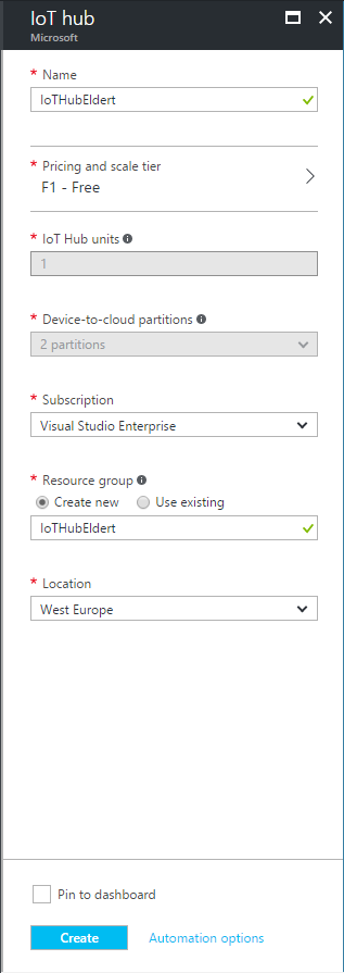 IoT Hub Management- Set IoT Hub Settings