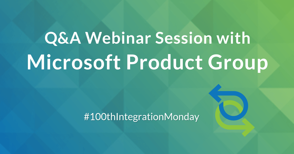 celebrating 100th episode of Integration User Group